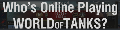 Who is online playing World of Tanks logo